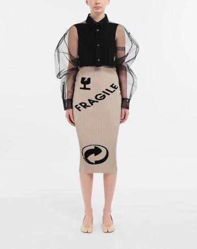 SHIRTS Oversized tulle shirt
