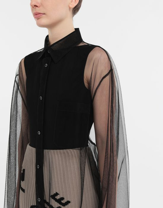 MAISON MARGIELA Oversized tulle shirt Long sleeve shirt [*** pickupInStoreShipping_info ***] b