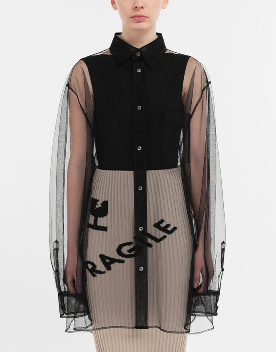 MAISON MARGIELA Oversized tulle shirt Long sleeve shirt [*** pickupInStoreShipping_info ***] r