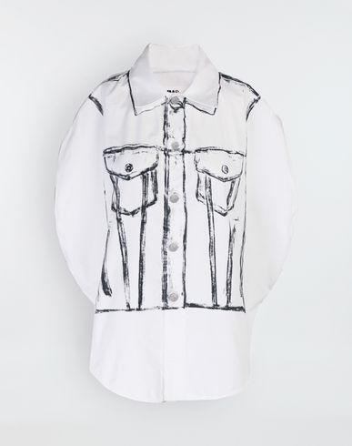 MM6 MAISON MARGIELA Sleeveless shirt [*** pickupInStoreShipping_info ***] Trace Marked printed garment bag shirt f