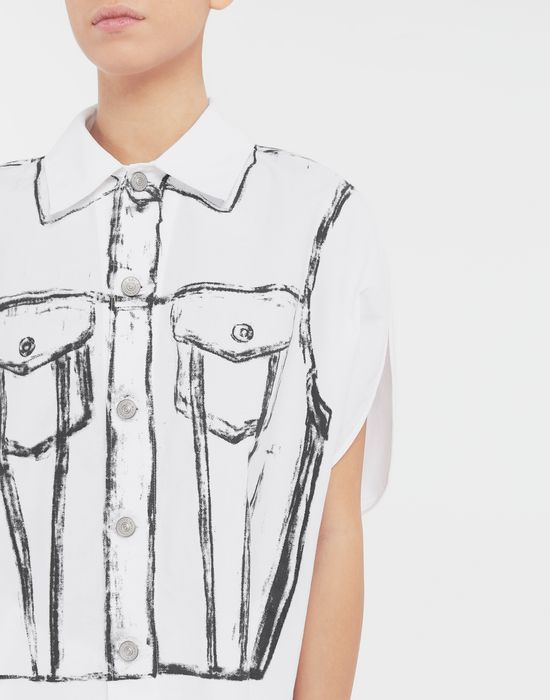 MM6 MAISON MARGIELA Trace Marked printed garment bag shirt Sleeveless shirt [*** pickupInStoreShipping_info ***] a