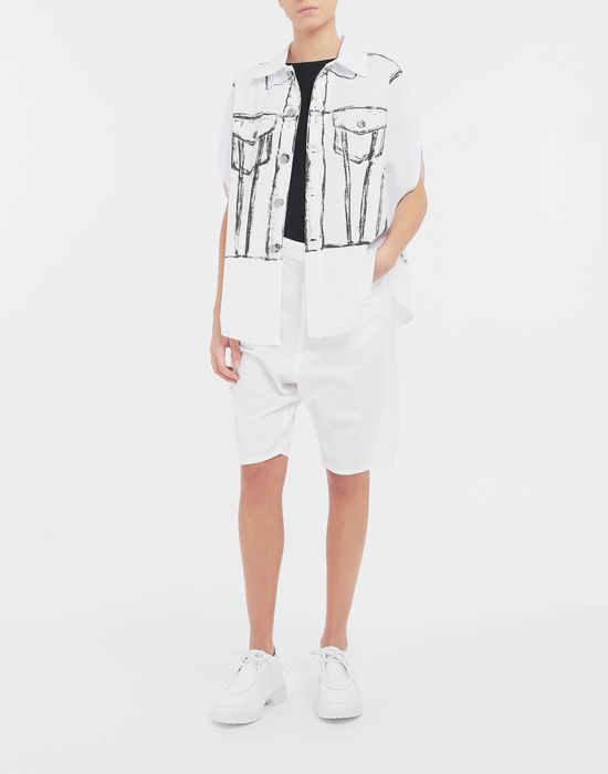 MM6 MAISON MARGIELA Trace Marked printed garment bag shirt Sleeveless shirt [*** pickupInStoreShipping_info ***] d