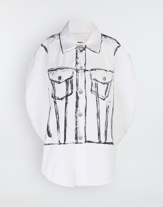 MM6 MAISON MARGIELA Trace Marked printed garment bag shirt Sleeveless shirt [*** pickupInStoreShipping_info ***] f