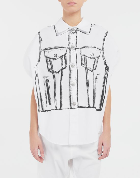 MM6 MAISON MARGIELA Trace Marked printed garment bag shirt Sleeveless shirt [*** pickupInStoreShipping_info ***] r