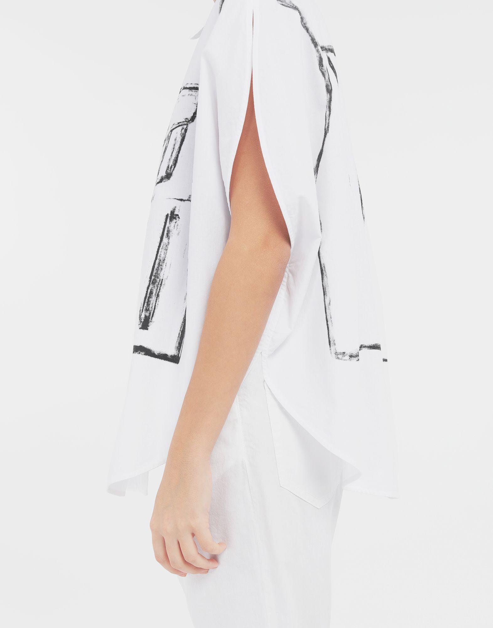 MM6 MAISON MARGIELA Trace Marked printed garment bag shirt Sleeveless shirt Woman b