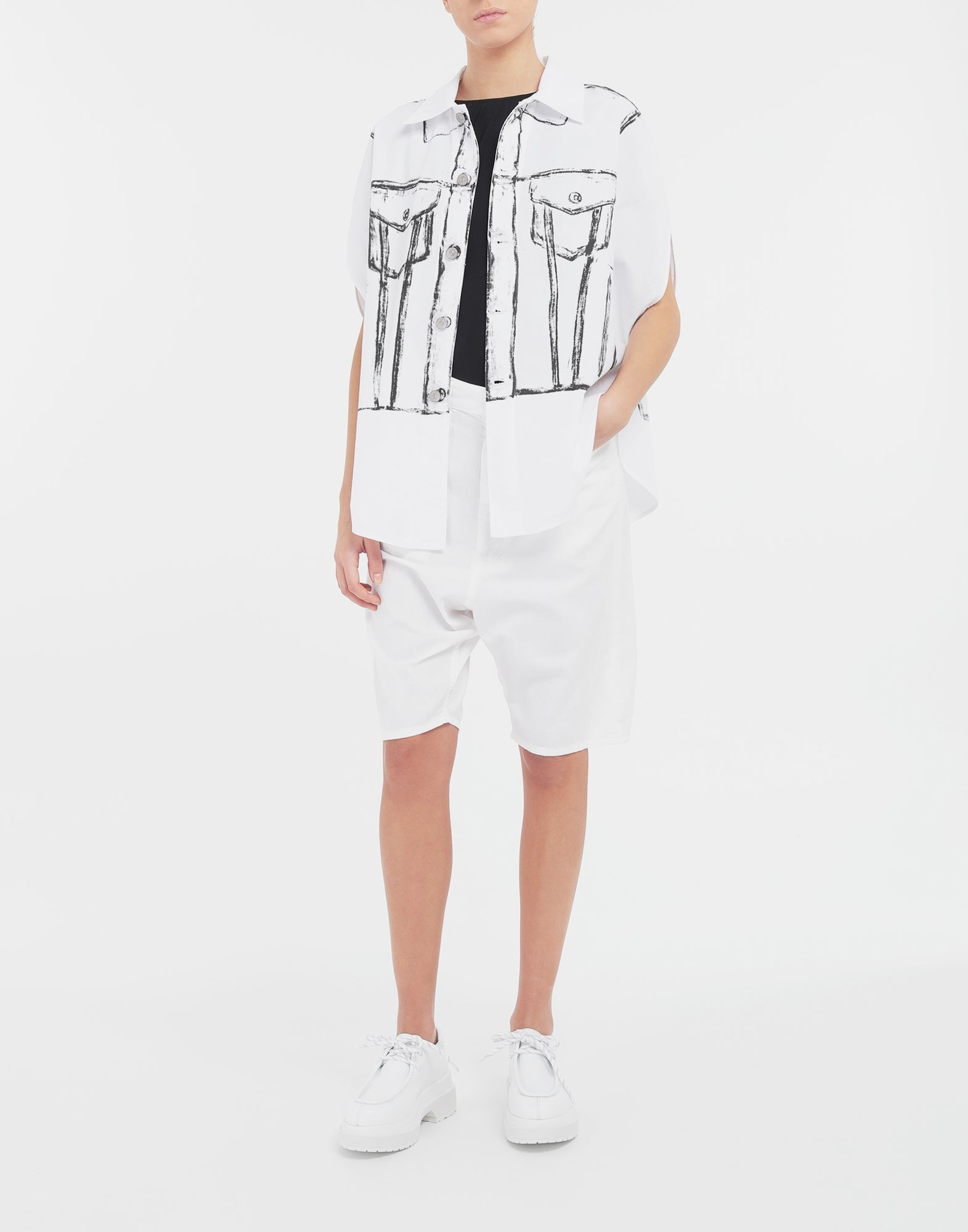 MM6 MAISON MARGIELA Trace Marked printed garment bag shirt Sleeveless shirt Woman d