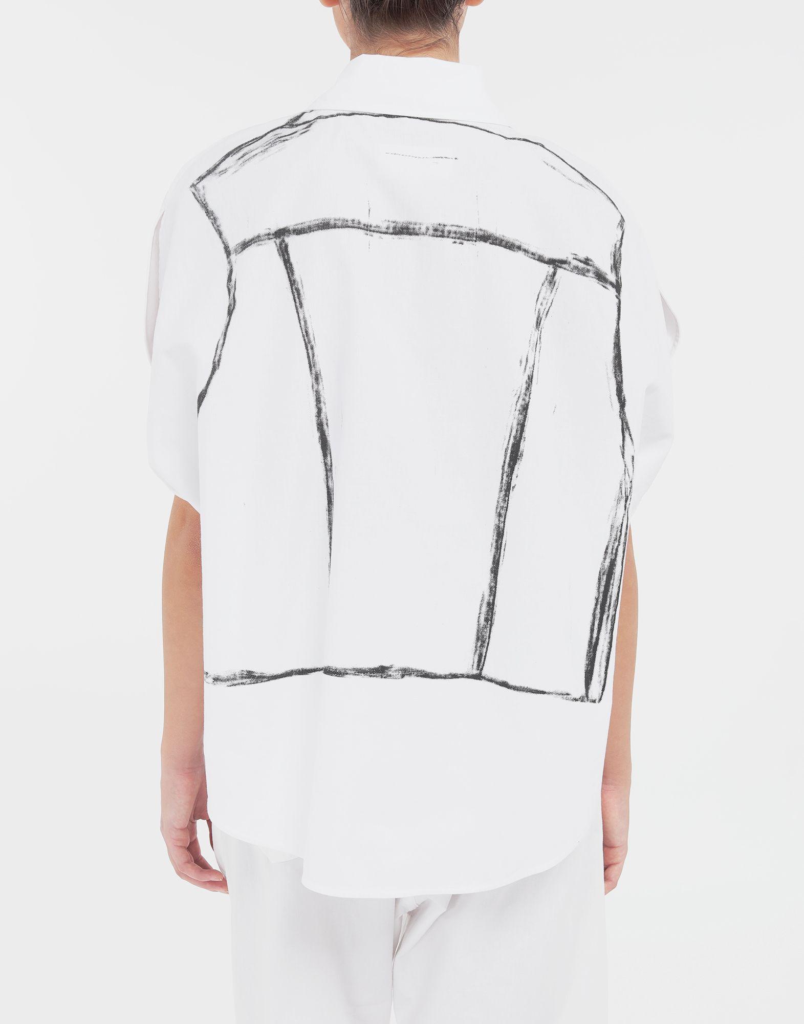 MM6 MAISON MARGIELA Trace Marked printed garment bag shirt Sleeveless shirt Woman e