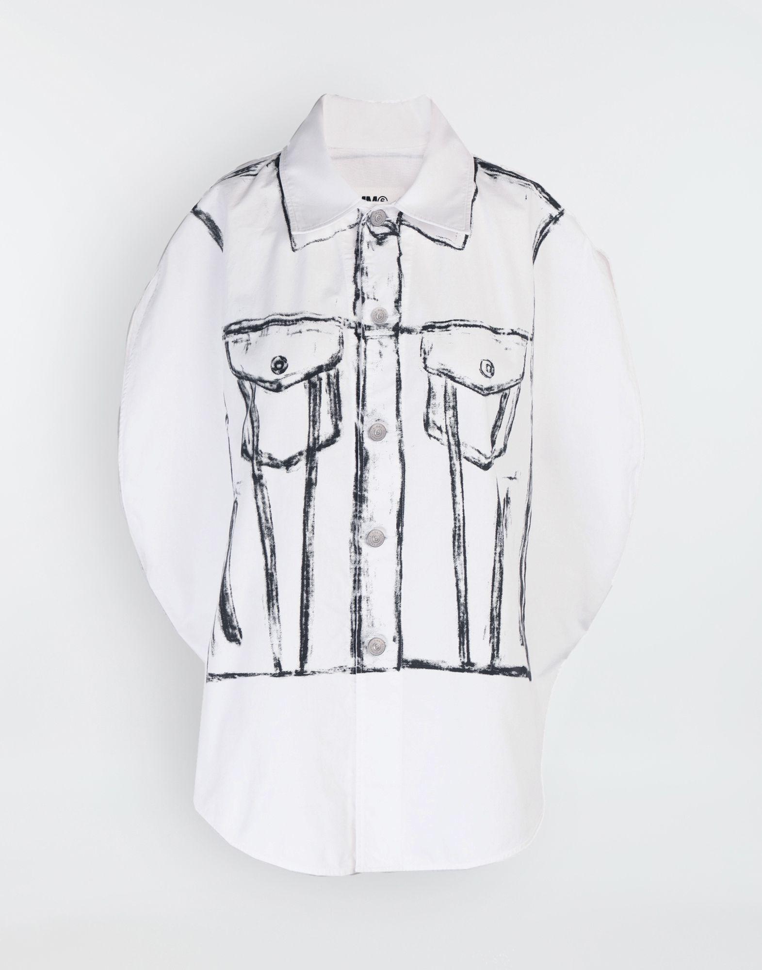MM6 MAISON MARGIELA Trace Marked printed garment bag shirt Sleeveless shirt Woman f
