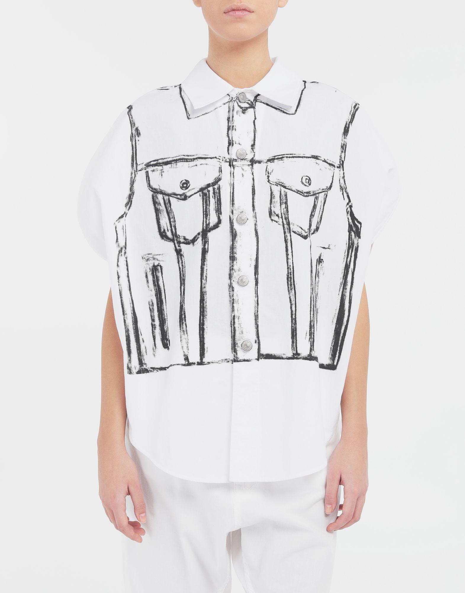 MM6 MAISON MARGIELA Trace Marked printed garment bag shirt Sleeveless shirt Woman r