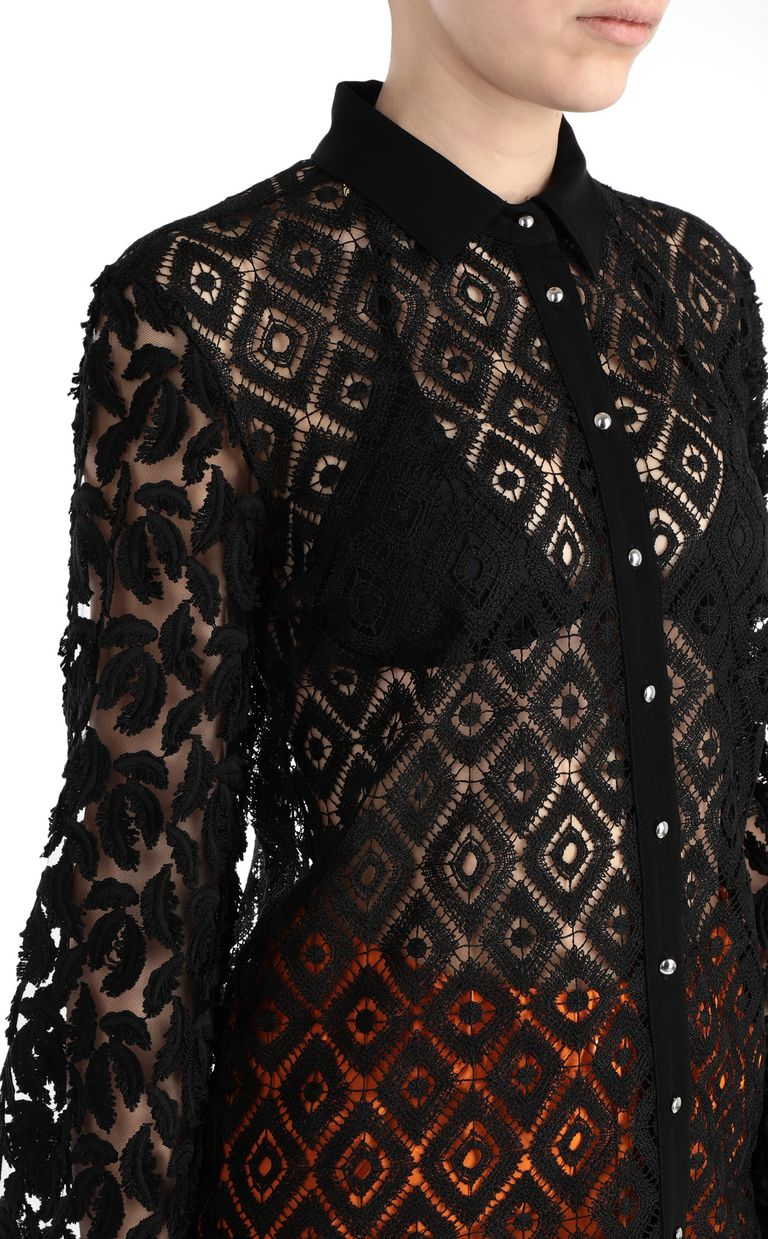 JUST CAVALLI Lace and macramé shirt Long sleeve shirt [*** pickupInStoreShipping_info ***] e