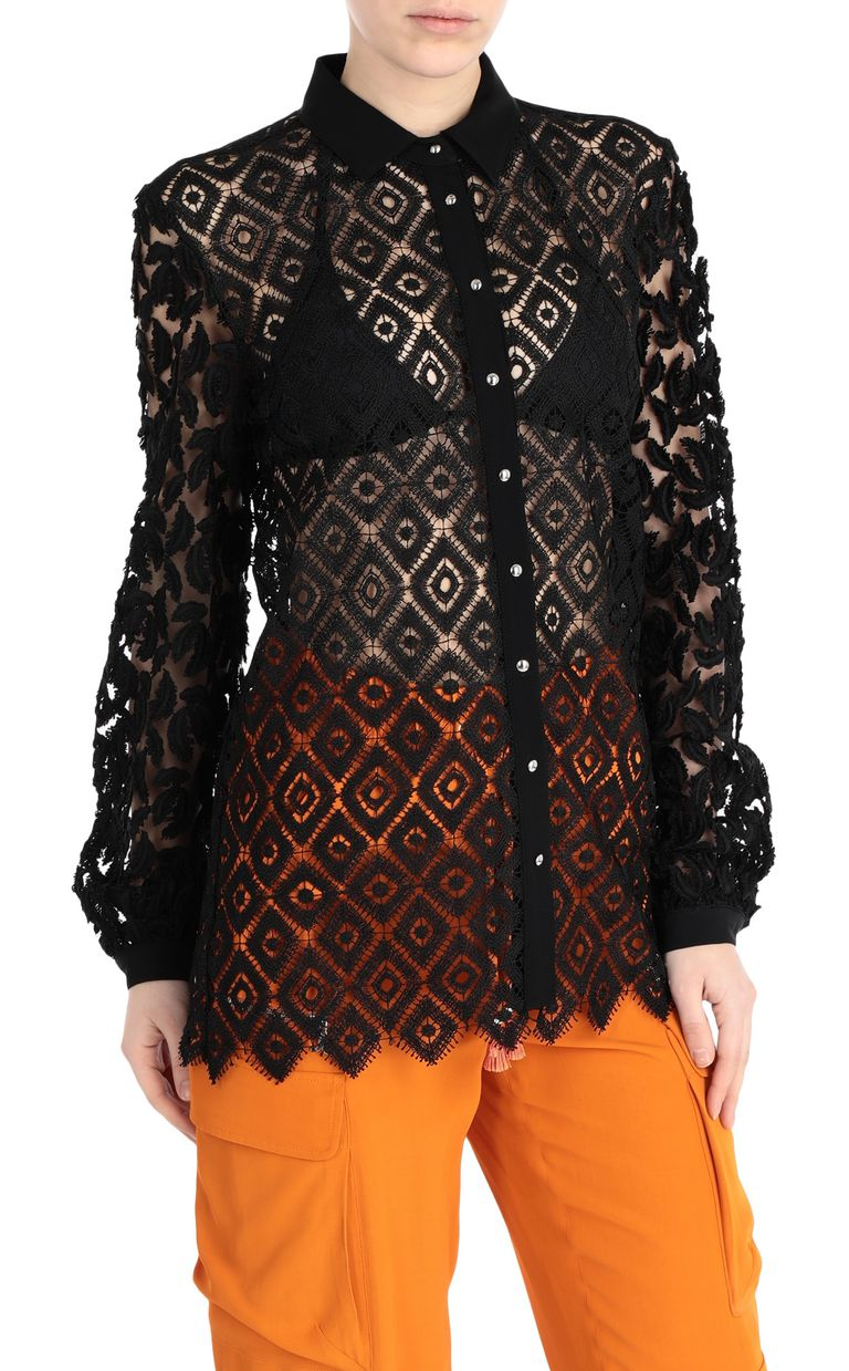 JUST CAVALLI Lace and macramé shirt Long sleeve shirt [*** pickupInStoreShipping_info ***] f