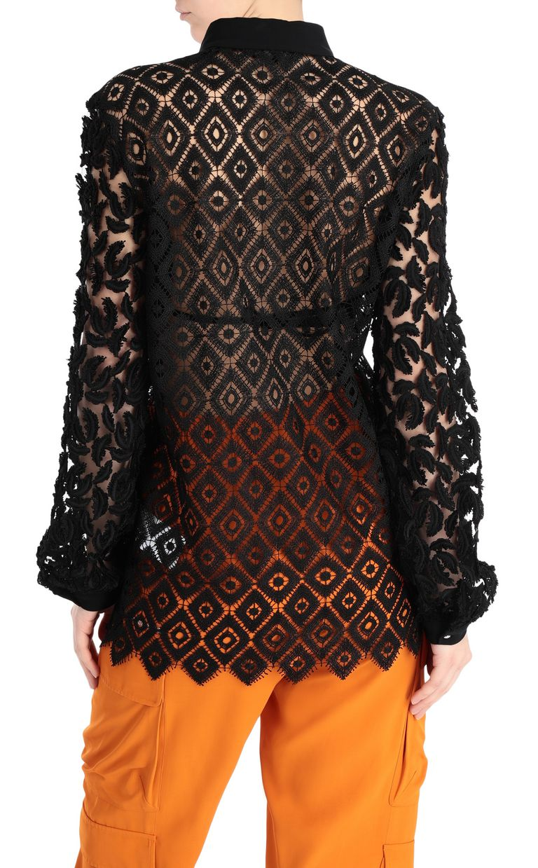 JUST CAVALLI Lace and macramé shirt Long sleeve shirt [*** pickupInStoreShipping_info ***] r