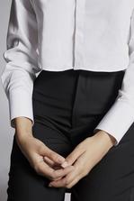 DSQUARED2 Cotton Poplin Cropped Shirt Long sleeve shirt Woman