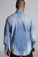 DSQUARED2 Botanical Military Denim Shirt Denim shirt Man