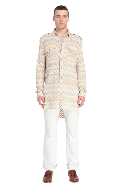 MISSONI Men's shirts Ochre Man - Front