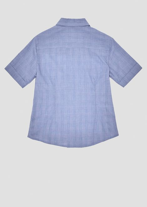 Short-sleeved shirt in Prince of Wales fabric