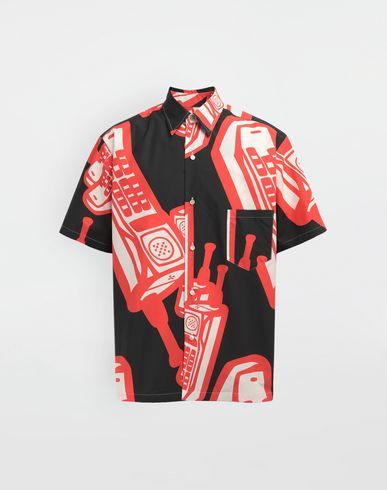 MAISON MARGIELA Telephone printed shirt Short sleeve shirt [*** pickupInStoreShippingNotGuaranteed_info ***] f