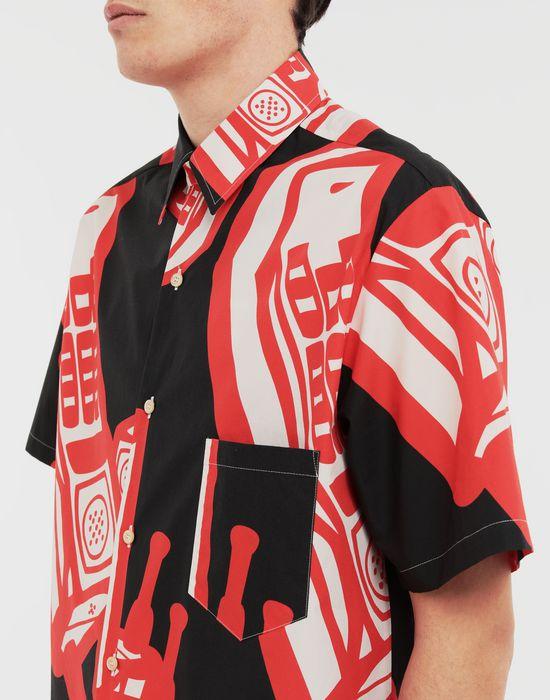 MAISON MARGIELA Telephone printed shirt Short sleeve shirt [*** pickupInStoreShippingNotGuaranteed_info ***] a