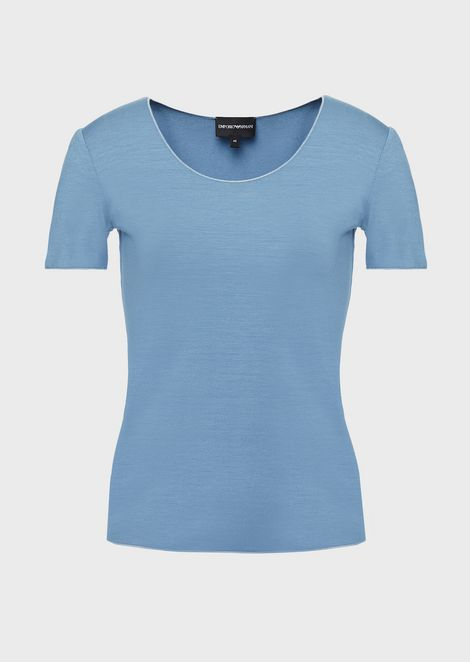 T-shirt in jersey di viscosa stretch