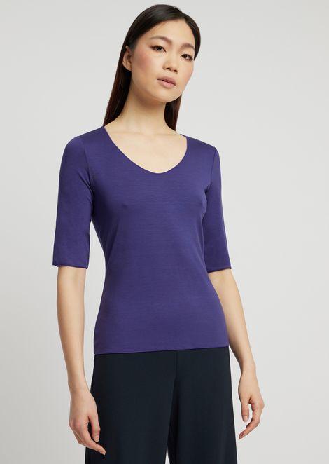 Stretch viscose jersey knit