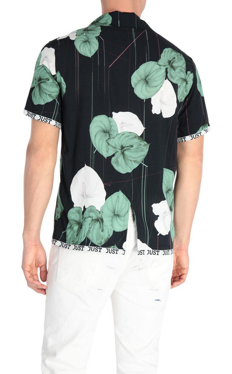 JUST CAVALLI Flamingo-flower-print shirt Short sleeve shirt Man r