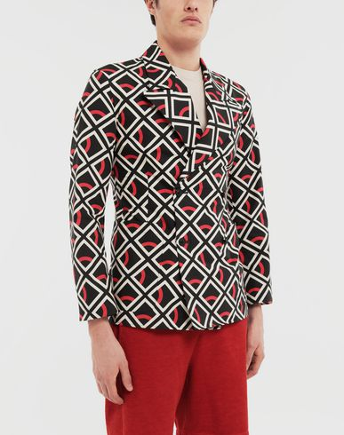 SHIRTS Diamond printed double-breasted jacket