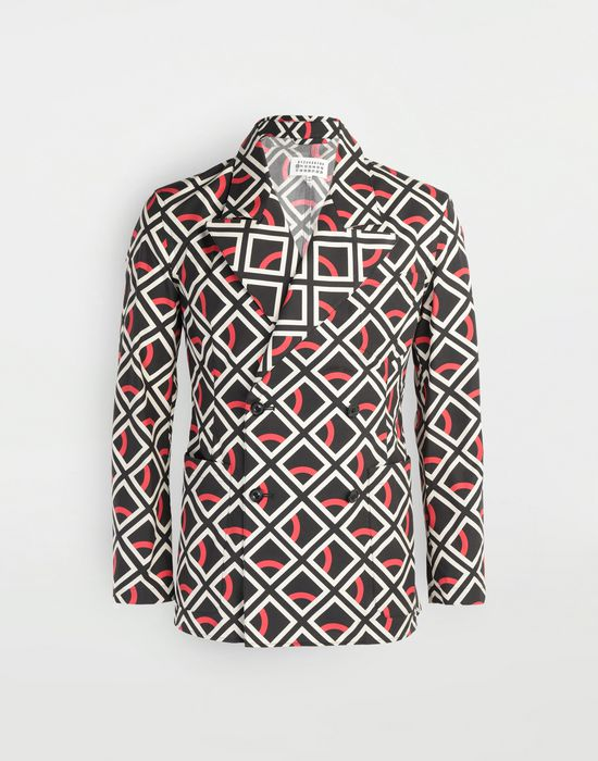 MAISON MARGIELA Diamond printed double-breasted jacket Long sleeve shirt [*** pickupInStoreShippingNotGuaranteed_info ***] f