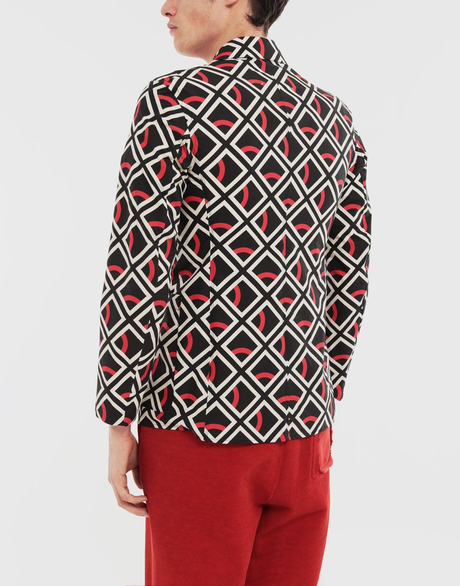 MAISON MARGIELA Diamond printed double-breasted jacket Long sleeve shirt Man e