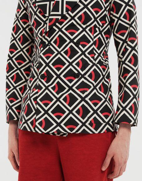 MAISON MARGIELA Diamond printed double-breasted jacket Long sleeve shirt Man a