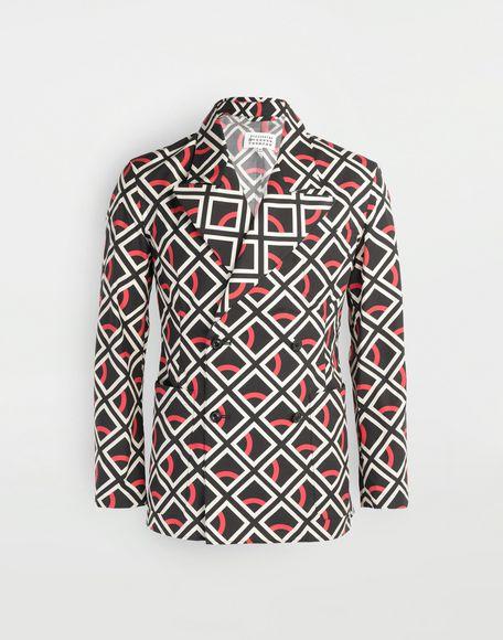 MAISON MARGIELA Diamond printed double-breasted jacket Long sleeve shirt Man f