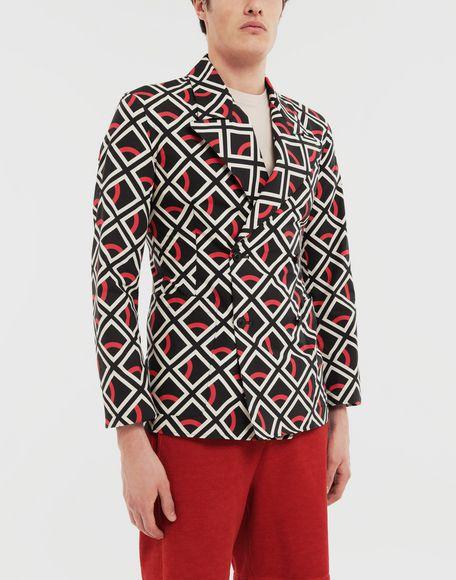 MAISON MARGIELA Diamond printed double-breasted jacket Long sleeve shirt Man r