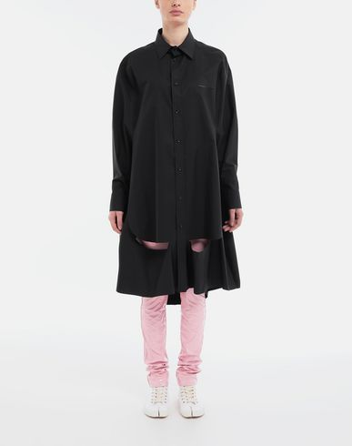 SHIRTS Décortiqué poplin cape shirt