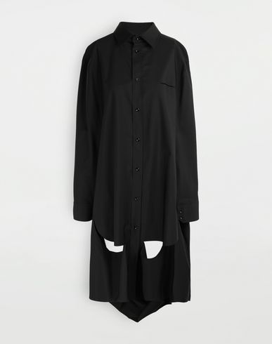MAISON MARGIELA Décortiqué poplin cape shirt Long sleeve shirt [*** pickupInStoreShipping_info ***] f