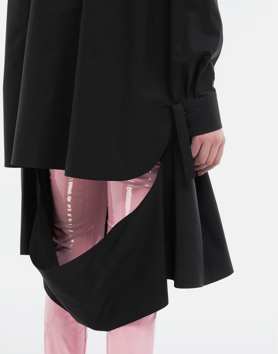 MAISON MARGIELA Décortiqué poplin cape shirt Long sleeve shirt [*** pickupInStoreShipping_info ***] b