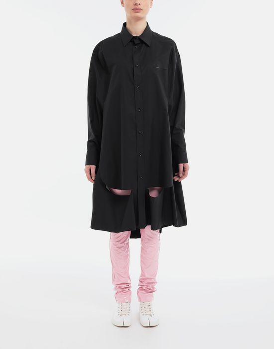 MAISON MARGIELA Décortiqué poplin cape shirt Long sleeve shirt [*** pickupInStoreShipping_info ***] d