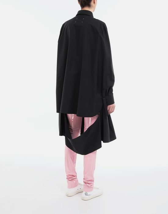 MAISON MARGIELA Décortiqué poplin cape shirt Long sleeve shirt [*** pickupInStoreShipping_info ***] e