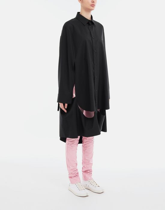 MAISON MARGIELA Décortiqué poplin cape shirt Long sleeve shirt [*** pickupInStoreShipping_info ***] r