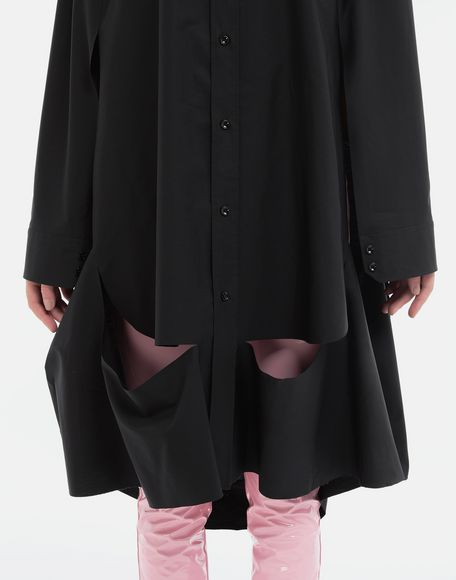 MAISON MARGIELA Décortiqué poplin cape shirt Long sleeve shirt Woman a