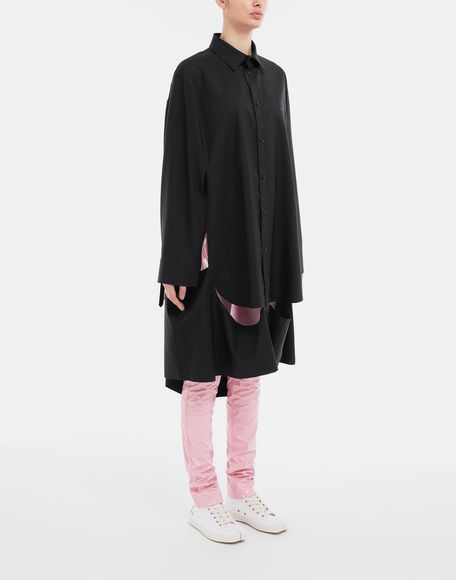 MAISON MARGIELA Décortiqué poplin cape shirt Long sleeve shirt Woman r