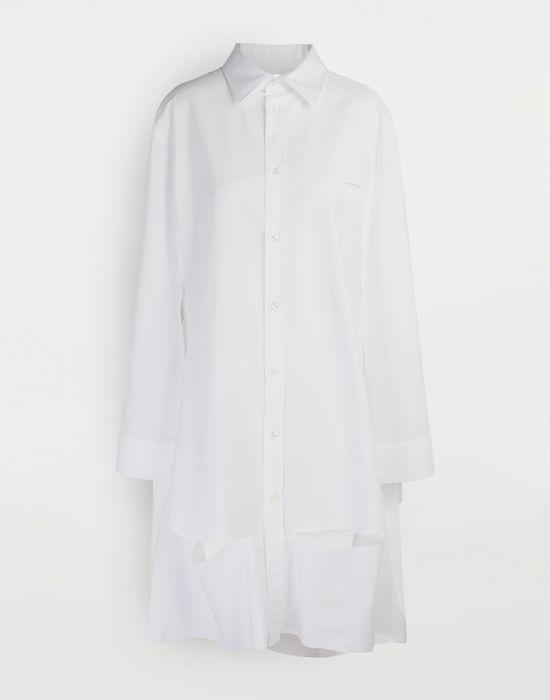 MAISON MARGIELA Chemise cape en popeline «décortiqué» Chemise manches longues [*** pickupInStoreShipping_info ***] f