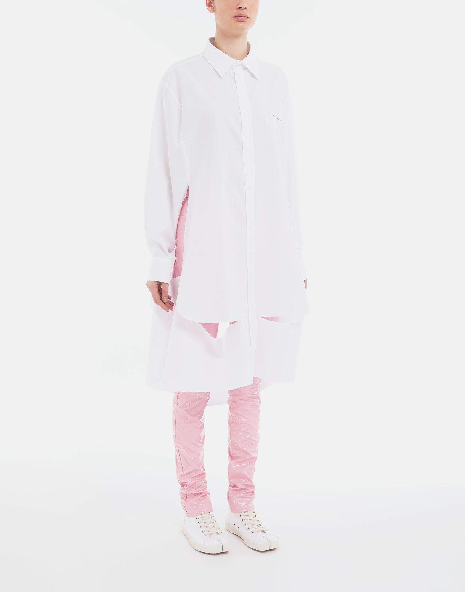 MAISON MARGIELA Décortiqué poplin cape shirt Long sleeve shirt Woman r