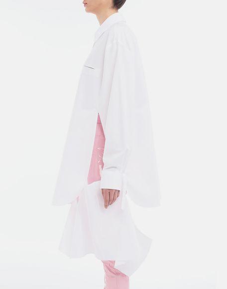 MAISON MARGIELA Décortiqué poplin cape shirt Long sleeve shirt Woman a