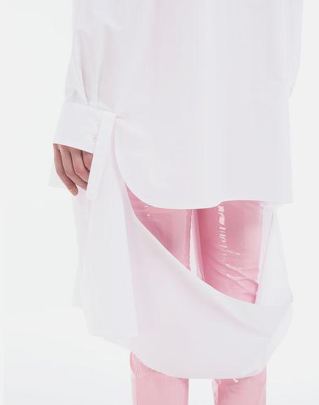 MAISON MARGIELA Décortiqué poplin cape shirt Long sleeve shirt Woman b