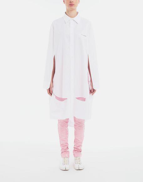 MAISON MARGIELA Décortiqué poplin cape shirt Long sleeve shirt Woman d
