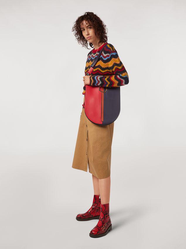 Marni Camisa de satén de viscosa con cuello redondo Mujer - 5