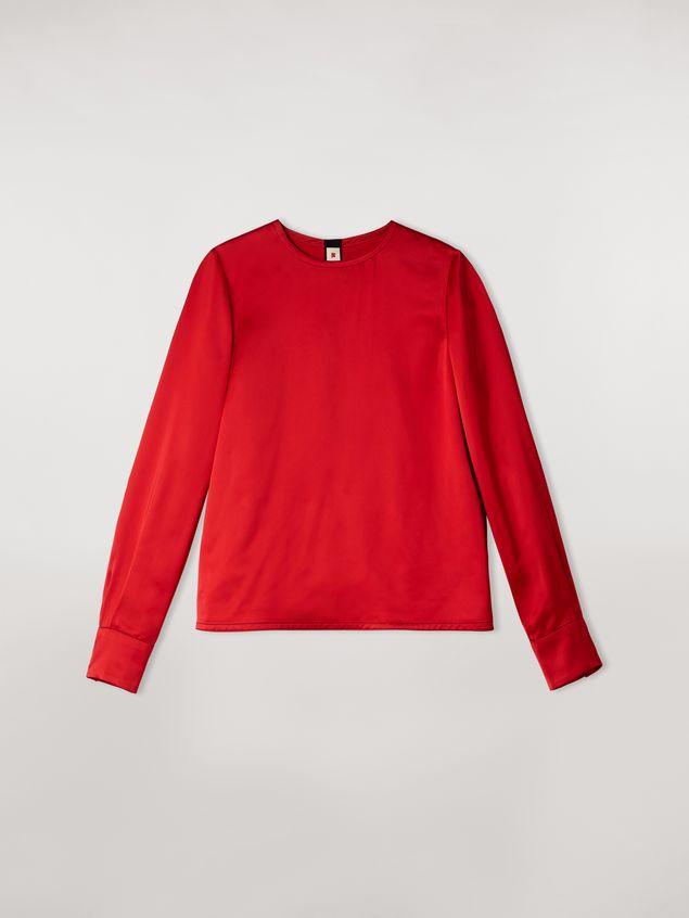 Marni Camisa de satén de viscosa con cuello redondo Mujer - 2