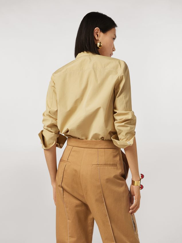 Marni Nehru-neck cotton poplin shirt Woman