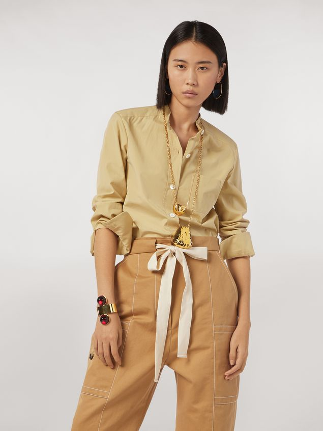 Marni Nehru-neck cotton poplin shirt Woman - 1