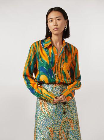 Marni Shirt in silk twill Psychotropic print Woman