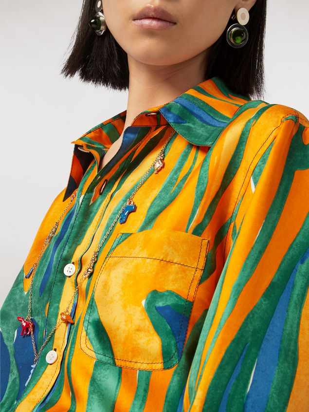 Marni Shirt in silk twill Psychotropic print Woman - 4